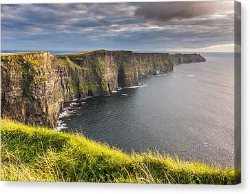 Cliffs Of Moher On The West Coast Of Ireland Canvas Print by Pierre Leclerc Photography