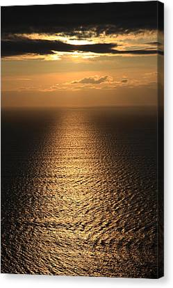 Cliffs Of Moher Sunset Co. Clare Ireland Canvas Print by Pierre Leclerc Photography
