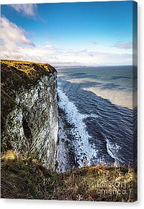 Canvas Print featuring the photograph Cliffside View by Anthony Baatz
