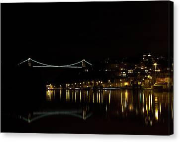 Clifton Suspension Bridge At Night Canvas Print