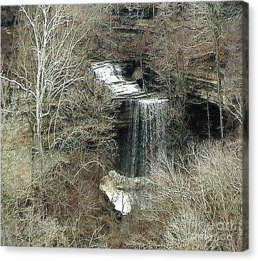 Southern Indiana Autumn Canvas Print - Clifty Falls - Late Fall In Indiana by Scott D Van Osdol