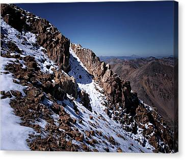 Canvas Print featuring the photograph Climb That Mountain by Jim Hill