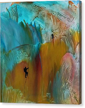 Climbing Canvas Print - Climbers by Mary Chris Hines