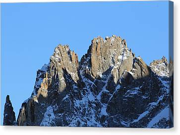 Climbers Sunlit Challenge Canvas Print by Pat Speirs