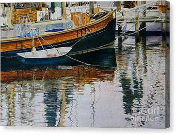 Clinging Dingy Canvas Print by Karol Wyckoff