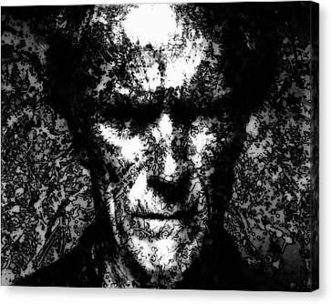 Harry Callahan Canvas Print - Clint Eastwood 2c by Brian Reaves
