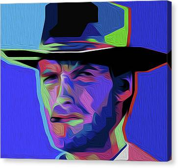 Harry Callahan Canvas Print - Clint Eastwood 303 By Nixo by Nicholas Nixo
