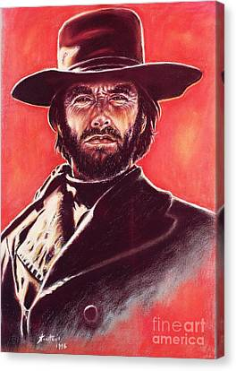 Clint Eastwood Canvas Print by Anastasis  Anastasi