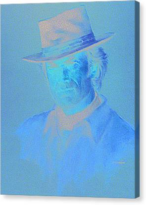 Clint Eastwood Canvas Print by Charles Vernon Moran