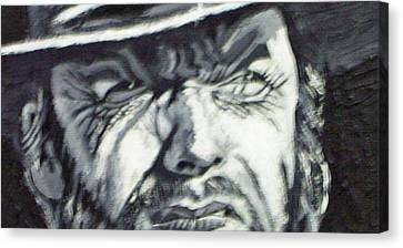 Clint  Eastwood Canvas Print by Paul Weerasekera
