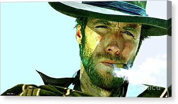 Clint Eastwood - The Man With No Name Canvas Print