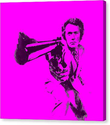 Harry Callahan Canvas Print - Clinton Eastwood 5a by Brian Reaves