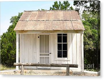 Canvas Print featuring the photograph Clint's Cabin - Texas - Close-up by Ray Shrewsberry