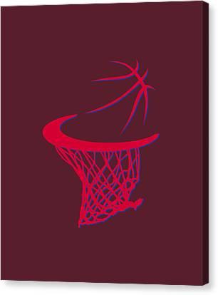 Clippers Basketball Hoop Canvas Print by Joe Hamilton