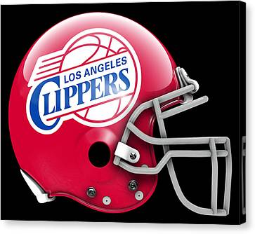 Los Angeles Clippers Canvas Print - Clippers What If Its Football 1 by Joe Hamilton