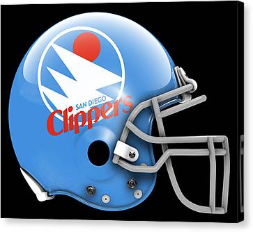 Los Angeles Clippers Canvas Print - Clippers What If Its Football by Joe Hamilton