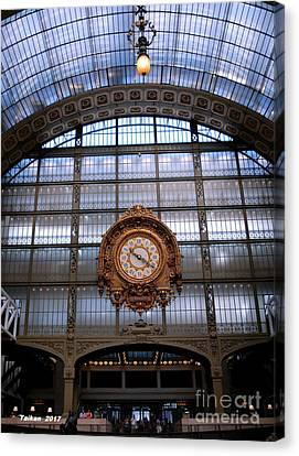 Clock In Orsay By Taikan Canvas Print