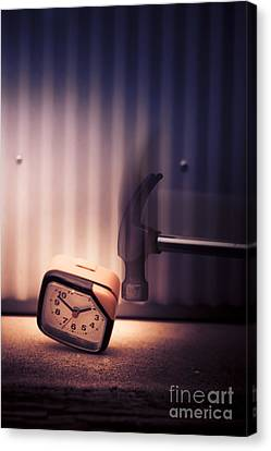 Clock The Hammer Canvas Print