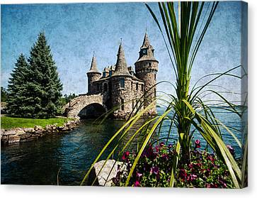 Boldt Castle Power House And Clock Tower Canvas Print