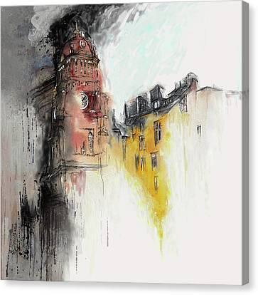 Clock Tower I Canvas Print by Mawra Tahreem