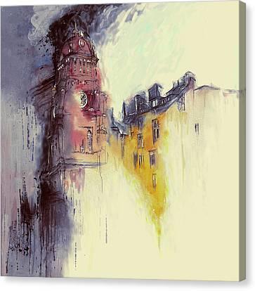 Clock Tower II Canvas Print by Mawra Tahreem