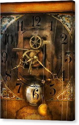 Clockmaker Canvas Print - Clockmaker - A Sharp Looking Time Piece by Mike Savad