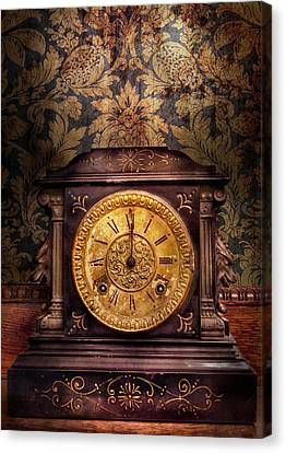 Clockmaker - Wolf Clock  Canvas Print by Mike Savad