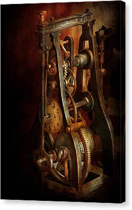 Clockmaker Canvas Print - Clockmaker - Careful I Bite by Mike Savad