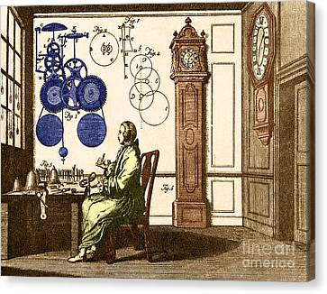 Clockmaker Canvas Print - Clockmaker by Photo Researchers
