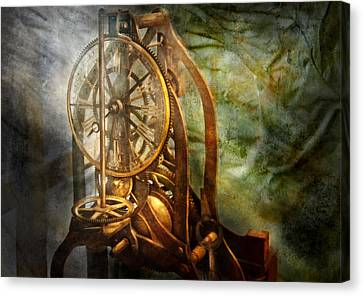 Clockmaker Canvas Print - Clockmaker - The Day Time Stood Still  by Mike Savad