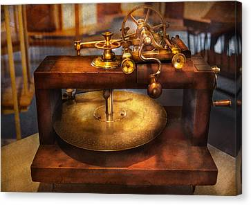 Clocksmith - The Gear Cutting Machine  Canvas Print by Mike Savad
