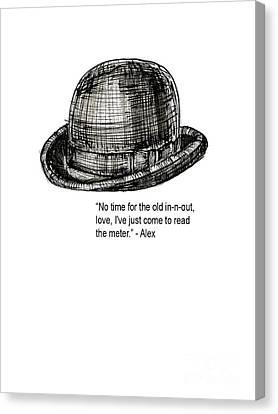 Kubrick Canvas Print - Clockwork Orange Quote Tee by Edward Fielding