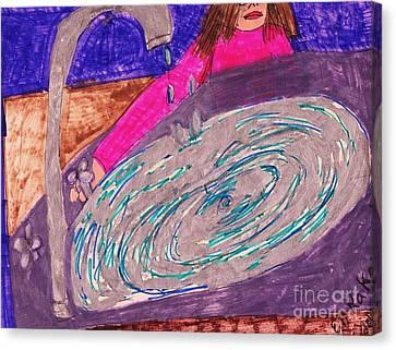 Clogged Drain Canvas Print