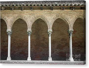 Cloister In Couvent Des Jacobins Canvas Print by Elena Elisseeva