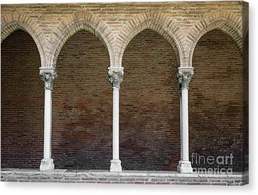 Canvas Print featuring the photograph Cloister With Arched Colonnade by Elena Elisseeva