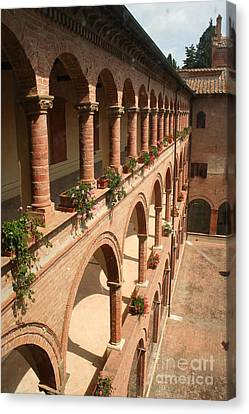 Cloistered Courtyard Canvas Print by Christiane Schulze Art And Photography