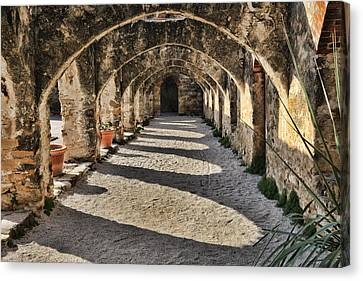 Cloistered Canvas Print - Cloistered - Mission San Jose by Stephen Stookey