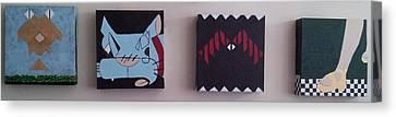Spirit Cat Essence Canvas Print - Clomp Clomp Clomp Clomp by William Douglas