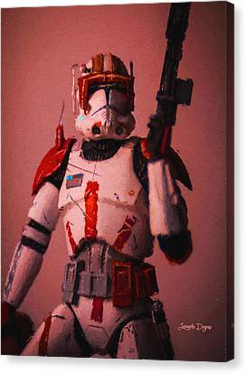 Clone Commander Cody - Da Canvas Print by Leonardo Digenio
