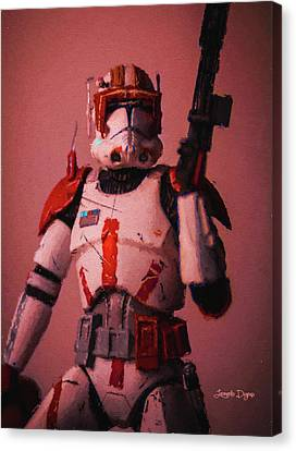 Magazine Canvas Print - Clone Commander Cody - Free Style by Leonardo Digenio