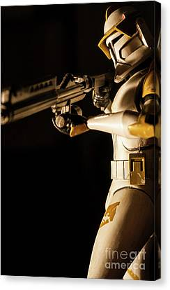Canvas Print featuring the photograph Clone Trooper 6  by Micah May