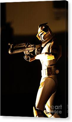 Canvas Print featuring the photograph Clone Trooper 7 by Micah May