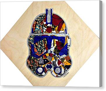 Canvas Print featuring the tapestry - textile  Clone Trooper Star Wars Afrofuturist by Apanaki Temitayo M