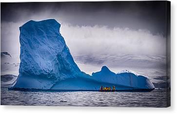 Close Encounter - Antarctica Iceberg Photograph Canvas Print by Duane Miller