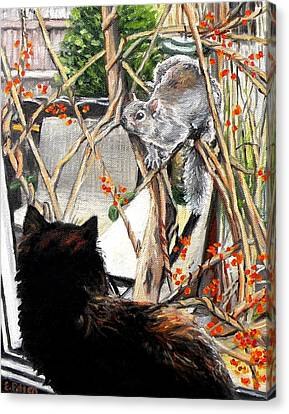 Close Encounter Canvas Print by Eileen Patten Oliver