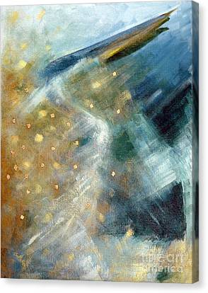 Close Encounter With A Great Blue Canvas Print by Suzanne McKee