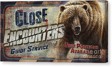 Canvas Print - Close Encounters Bear by Cynthie Fisher