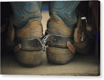 Close Up Detail Of Cowboy Boots Canvas Print