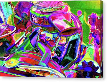 Component Canvas Print - Close Up Detail Of Use Car Engine by Lanjee Chee