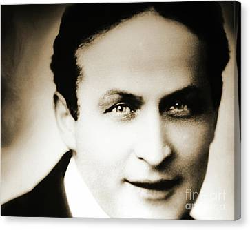 Close Up Of Harry Houdini Canvas Print
